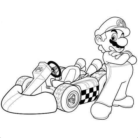 Free Just Bowser Coloring Pages Mario Kart 7 Coloring Pages