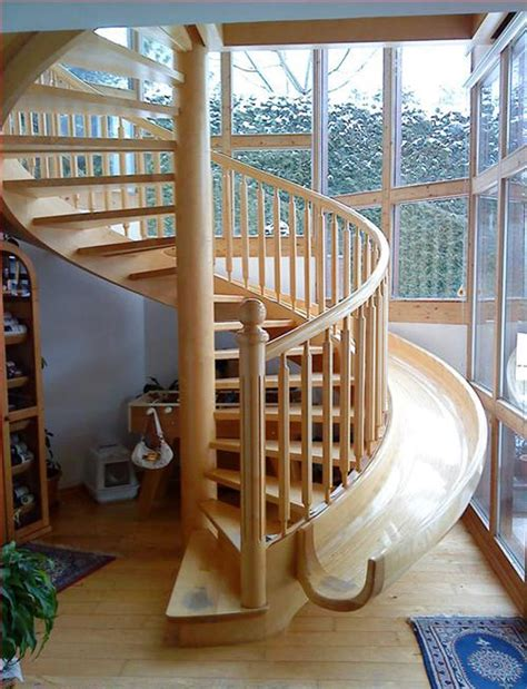 amazing spiral staircase slide freshome com