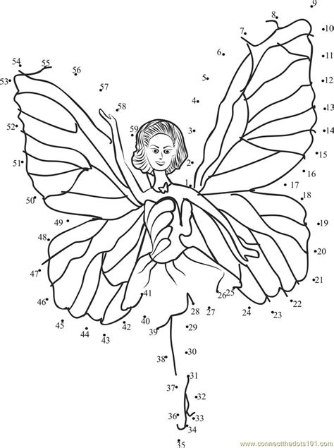 barbie printable dot to dot barbie angel dot to dot printable worksheet connect the dots