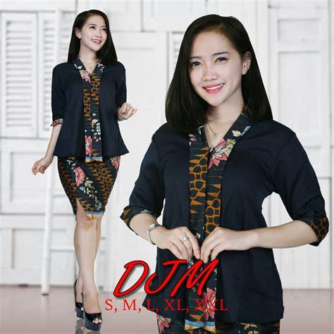 Stelan Kebaya Floy Hijau Pupus cj collection atasan blouse kemeja abaya batik wanita