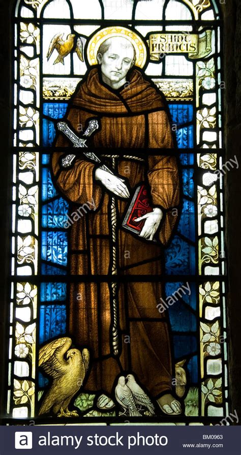 stained glass windows st francis of assisi new orleans la st francis of assisi depicted in stained glass at the
