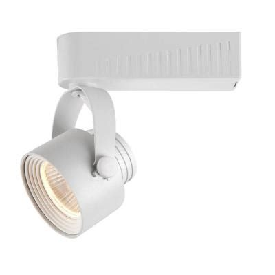 Track Lighting Fixtures Home Depot Hton Bay White Dimmable Led Gimbal Track Lighting Fixture 1015 Wh The Home Depot