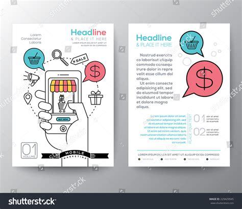 workshop layout online brochure flyer design layout template a4 stock vector