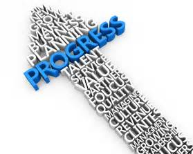 3d graphic arrow of progress with success business