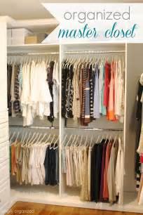 simply organized organized master closet