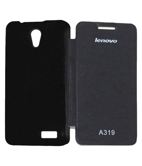 Lenovo A319 Black vvage flip cover for lenovo rocstar a319 black flip covers at low prices snapdeal india