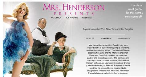 mrs henderson presents 2005 posters traileraddict mrs henderson presents pictures posters news and