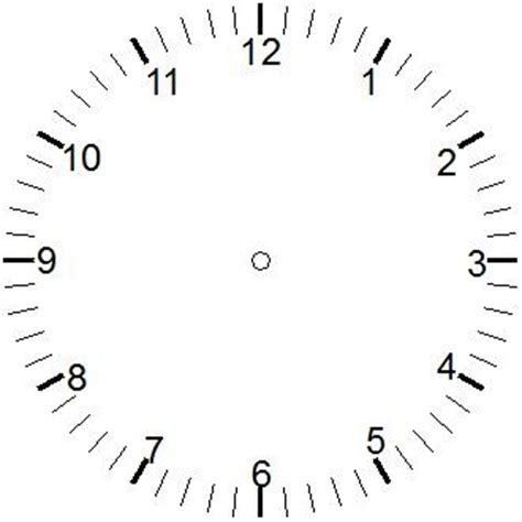 printable clock face no numbers blank clock face with no numbers clipart best