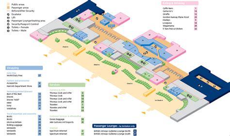 heathrow terminal 5 floor plan dedicated first and emerald security at lhr t5 page 3