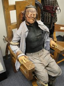 electric chair in the prop store of la electric chair from the gr