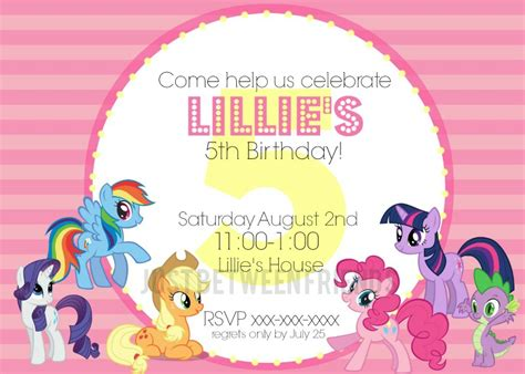 my little pony invitations free template just between