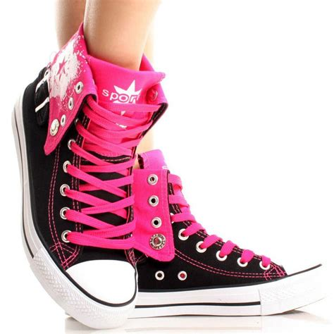 Nagita Black Pink Sneaker Shoes 1000 images about canvas styles on high top