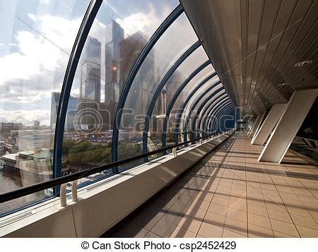 stock photographs of modern covered footbridge covered