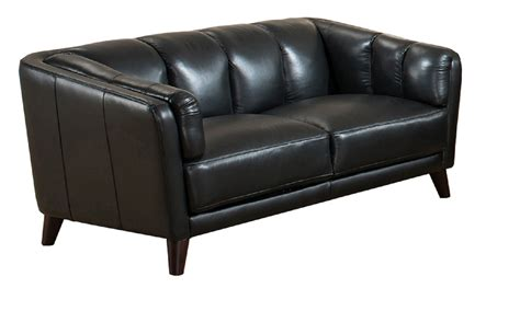 full grain leather couches frances full top grain black leather loveseat