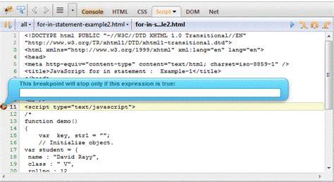 tutorial debug javascript with firebug debug javascript with firebug web development tools
