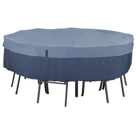 Patio Table And Chair Cover Classic Accessories Veranda Large Patio Table And Chair Set Cover 78942 The Home Depot