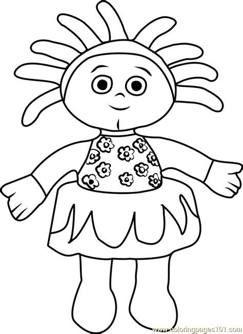 upsy daisy coloring page free in the night garden