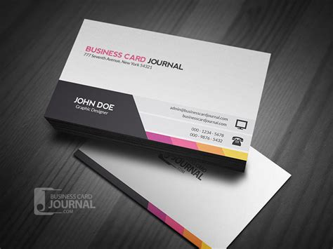 unique modern corporate business card template