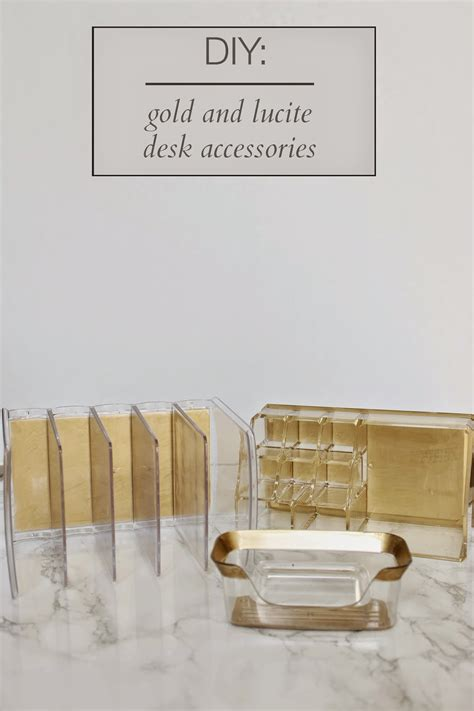 gold desk organizer jws interiors glam diy lucite and gold desk accessories