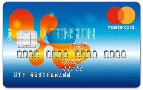 kreissparkasse kreditkarte kostenlos mastercard x tension kreditkarte kreissparkasse