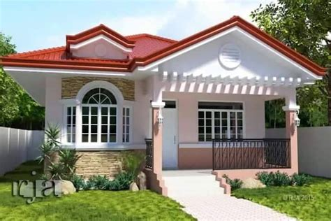 bungalow house design with terrace 12 house with colored theme roofing bahay ofw