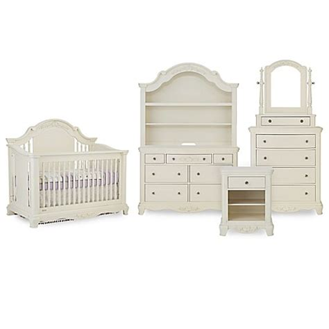 White Nursery Furniture Set Bassettbaby 174 Premier Nursery Furniture Collection In Pearl White Www Buybuybaby