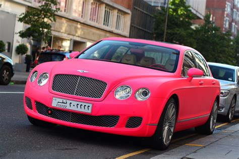 bentley pink bentley spotting matte pink bentley continental flying