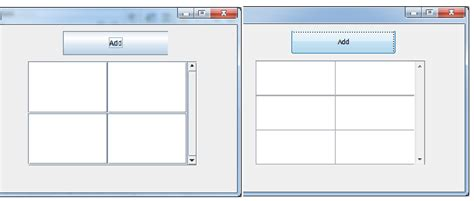 java layout rows java adding rows of jtextfields to a jscrollpane stack