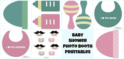 free printables for baby shower photo booth free baby shower photo booth printables baby shower