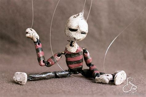 Handmade Marionettes - ooak handmade miniature marionette pendleton puppet no