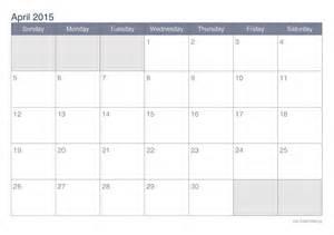 2015 Calendar April April 2015 Printable Calendar Icalendars Net