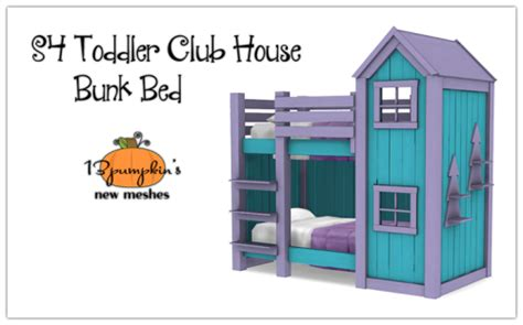 4 bed bunk bed sugar coated hell sims 4 toddler club house bunk bed 4