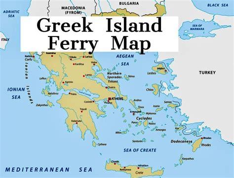 map  greek ferry routes travel    greek