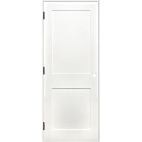 Single Panel Interior Doors Pacific Entries 32 In X 80 In Shaker Unfinished 2 Panel Solid Primed Pine Wood Reversible