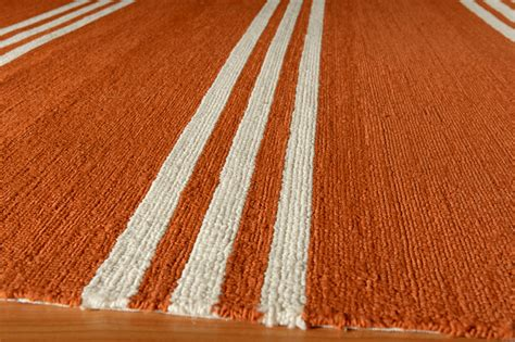 Orange Striped Rug by Veranda Tangerine Orange Stripe Rug Rosenberryrooms