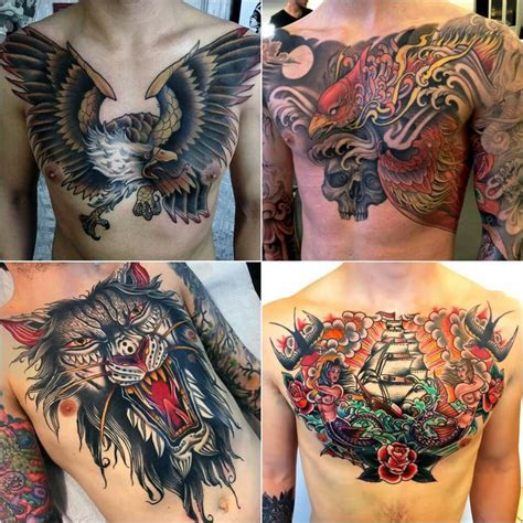 animal chest tattoos 100 best chest tattoos for chest gallery for