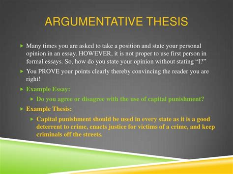 Argumentative Essay On The Penalty by Thesis Statement For Research Paper On Penalty