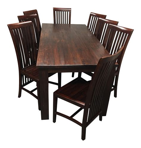 teak dining room table and chairs teak dining room table set of eight chairs chairish