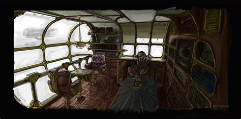 Airship Interior by Steam Airship Interior By Voskresensky On Deviantart