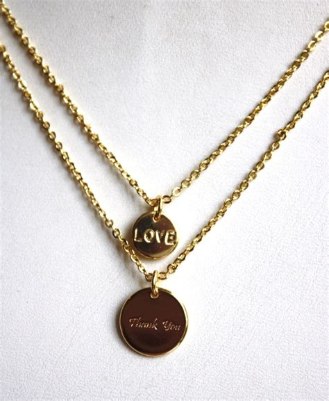 Gratitude Necklace love gratitude necklace gold mindfully thankful