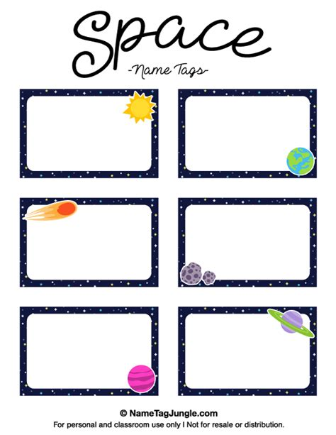 rocket name tags printable printable space name tags