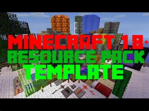 minecraft 1 8 1 resource pack template youtube