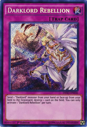 Kartu Yugioh Darklord Ixchel Secret darklord rebellion deso en036 secret 1st
