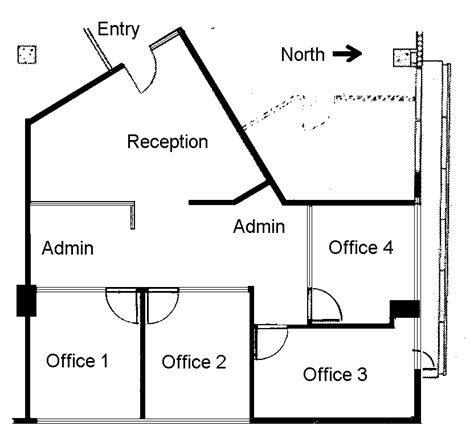 floor plan of a business 4 small offices floor plans within the office suite the