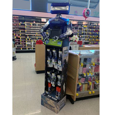 Schick Sweepstakes - schick hydro bot display transforms sweepstakes promotion point of purchase