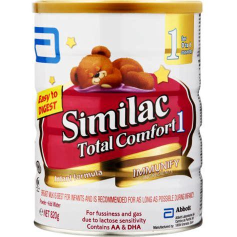 similac total comfort stage 1 infant formula 820g clicks