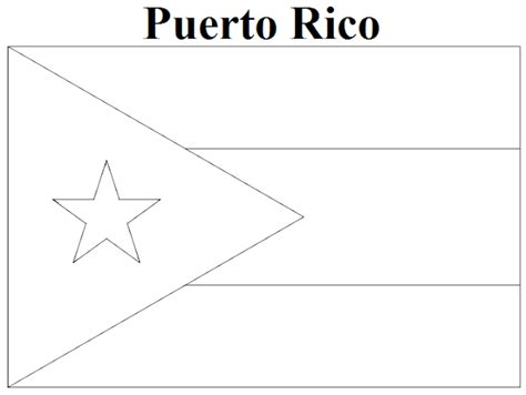 coloring page map of puerto rico geography blog puerto rico flag coloring page