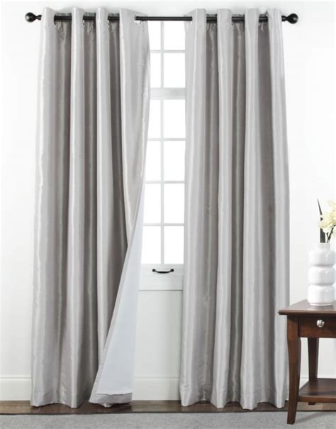 silver panel curtains belle maison santuary silver blackout grommet top curtain