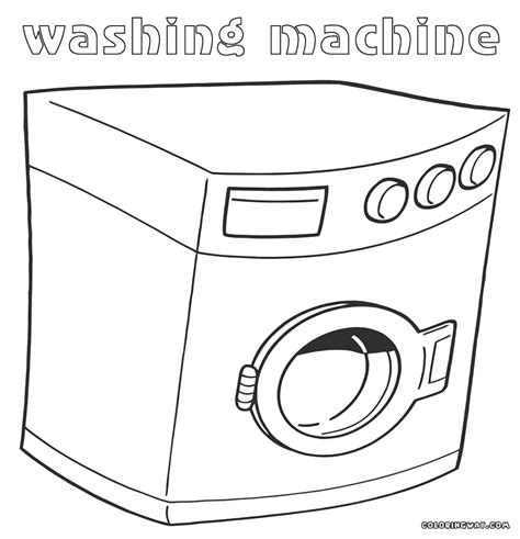 washer coloring pages coloring pages to and print