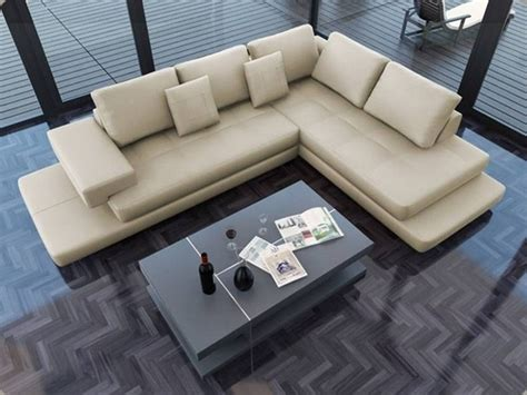 ultra modern leather sofas lamont ultra modern cream leather sectional sofa